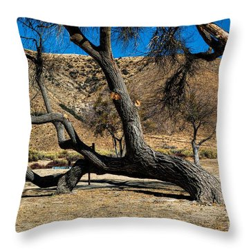 Elizabeth Lake Tree Throw Pillow