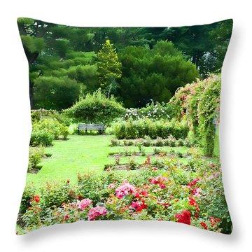 Elizabeth Park Throw Pillow by Edward Sobuta