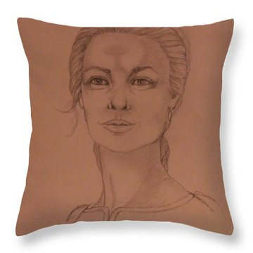 Elizabeth The White Queen Throw Pillow