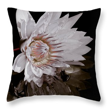 Elizabeth's Lily Throw Pillow by Trish Tritz