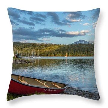 Elk Beach Memories Throw Pillow