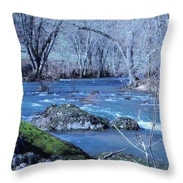 Throw Pillow featuring the photograph Elk Creek Wonderland by Marie Neder