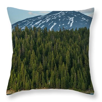 Elk Lake Sailing  Throw Pillow