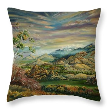 Elk Mountain Sunrise Throw Pillow