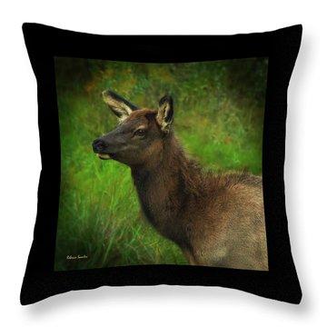 Elk Of Benezette Throw Pillow