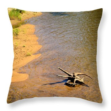Elk River Driftwood Throw Pillow