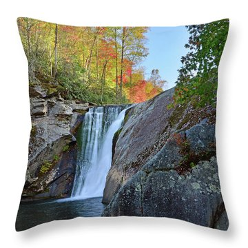 Elk River Falls Throw Pillow