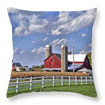 Elkhart County Farm Throw Pillow
