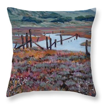 Elkhorn Slough Morning Throw Pillow