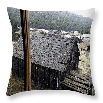 Elkhorn Snowfall Throw Pillow