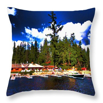 Elkins Resort Throw Pillow by David Patterson