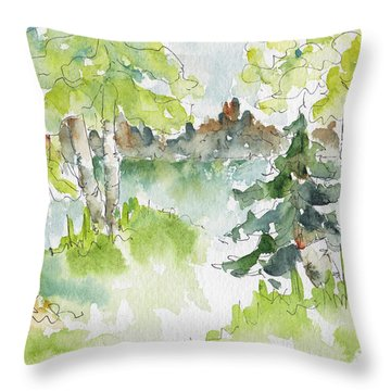 Elkridge Greens Throw Pillow