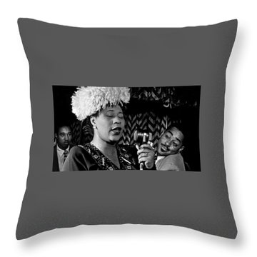 Ella Fitzgerald Dizzy Gillespie And Ray Brown William Gottlieb Photo Nyc 1947-2015 Throw Pillow by David Lee Guss