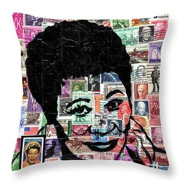 Lady Ella Fitzgerald Throw Pillow