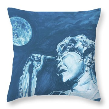 Ella Singing 'blue Moon' Throw Pillow