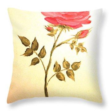 Ella's Rose Throw Pillow