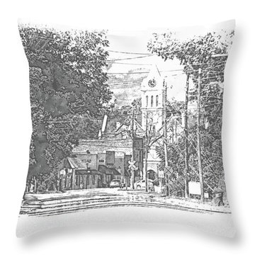 Throw Pillow featuring the photograph Ellaville, Ga - 1 by Jerry Battle