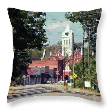Ellaville, Ga - 2 Throw Pillow by Jerry Battle