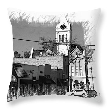 Throw Pillow featuring the photograph Ellaville, Ga - 3 by Jerry Battle