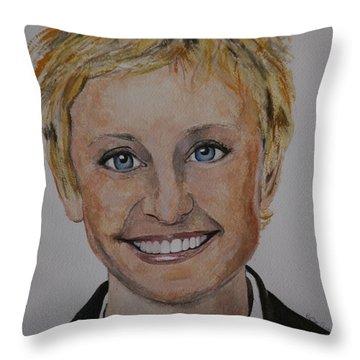 Ellen Throw Pillow by Betty-Anne McDonald
