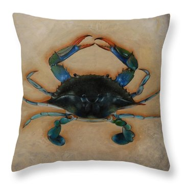 Ellen's Crab Throw Pillow