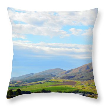 Ellensburg - Manastash Ridge Throw Pillow