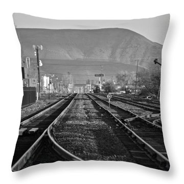 Ellensburg Station Throw Pillow