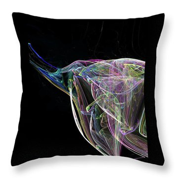 Elle-phant In Black Throw Pillow