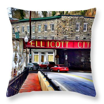 Ellicott City Throw Pillow by Stephen Younts