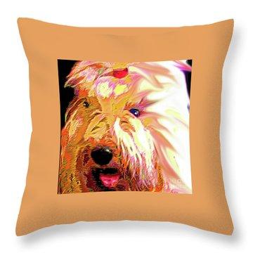 Ellie Throw Pillow by Alene Sirott-Cope