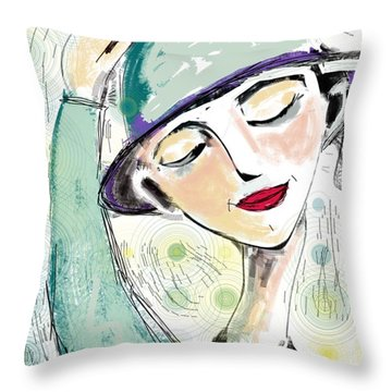 Ellie Throw Pillow by Elaine Lanoue