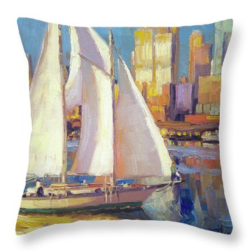 Elliot Bay Throw Pillow