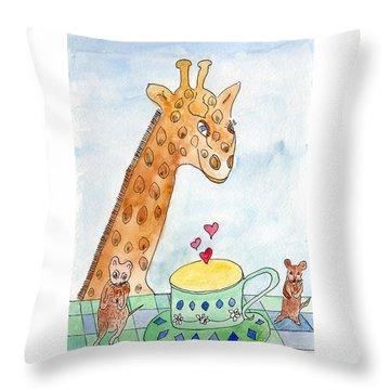 Elliott And Penelope Have Tea Throw Pillow