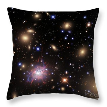 Elliptical Galaxy Ngc 1275 Throw Pillow by R Jay GaBany