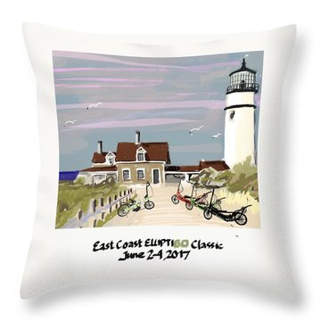 Elliptigo Art Throw Pillow