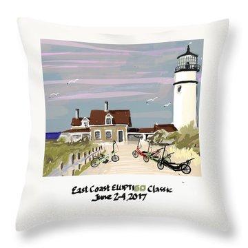 Elliptigo Art Throw Pillow