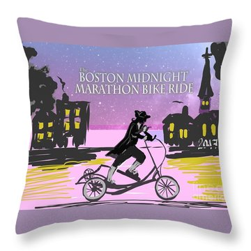 elliptigo meets the Midnight Ride Throw Pillow
