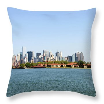 Ellis Island New York City Throw Pillow