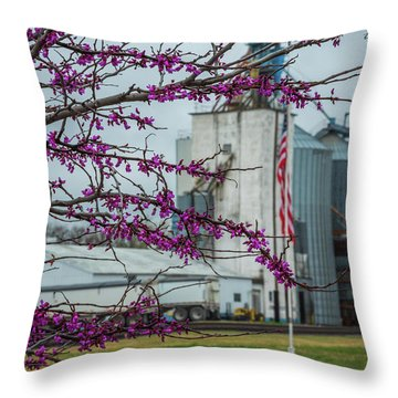 Throw Pillow featuring the photograph Ellsworth Blooms by Darren White