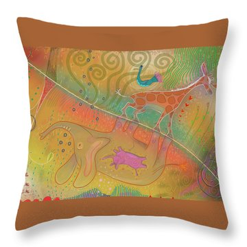 Throw Pillow featuring the digital art Elly - Gerry by Marti McGinnis