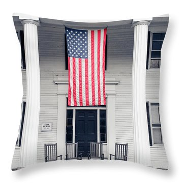 Elm House Orford, Nh Throw Pillow