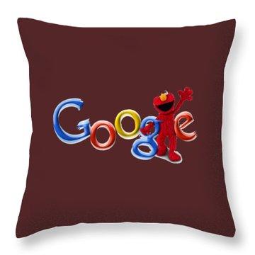 Elmo Google T-shirt Throw Pillow