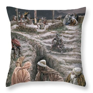 Eloi Eloi Lama Sabacthani Throw Pillow by Tissot