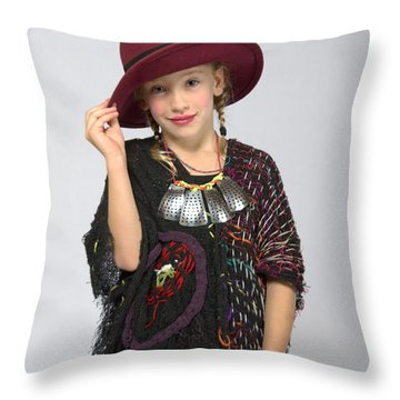 Elora In Threads Of 5 Years Time Throw Pillow