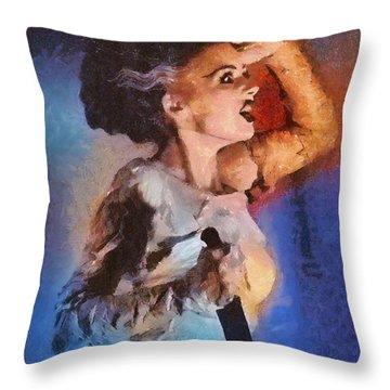 Elsa Lanchester, Bride Of Frankenstein Throw Pillow