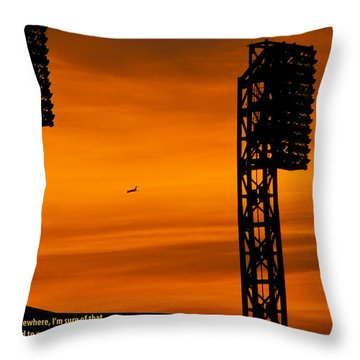Elsewhere Throw Pillow by Rhonda McDougall