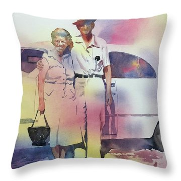 Elsie And Barney Shields Throw Pillow