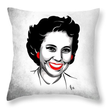 Throw Pillow featuring the digital art Elsie by Cindy Garber Iverson