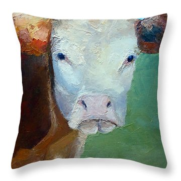 Elsie Throw Pillow by Susan Woodward