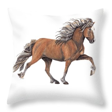 Throw Pillow featuring the painting Elska by Shari Nees